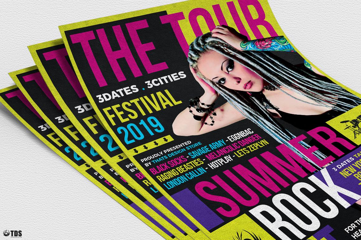 Summer Rockfest Flyer Template example image 5