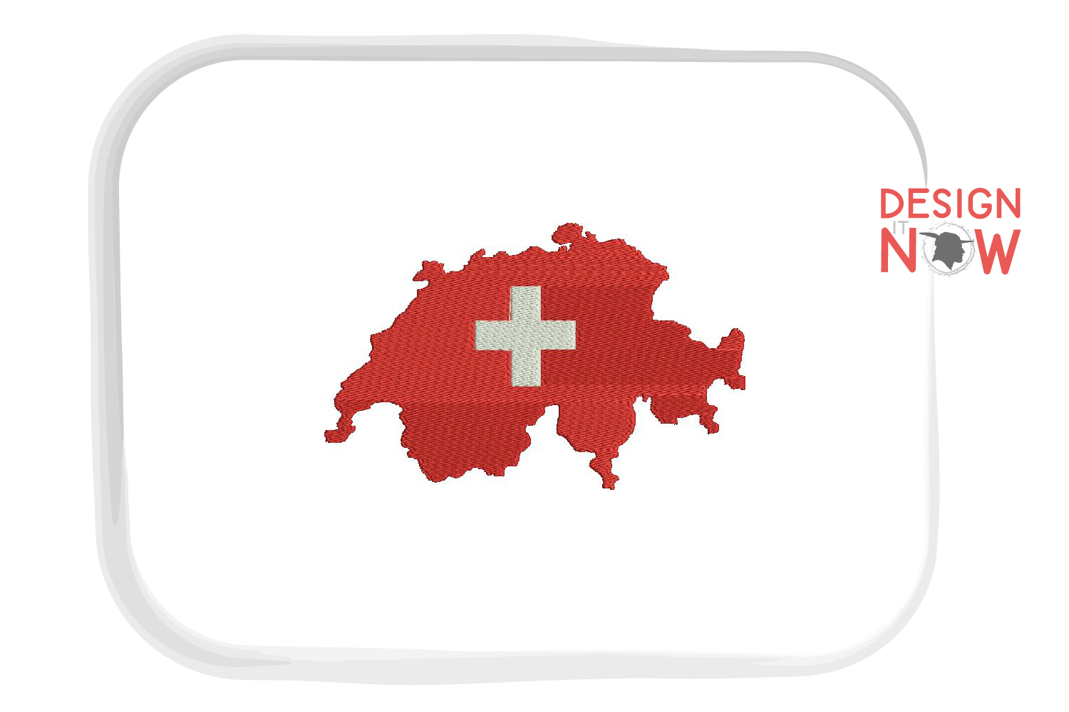 Map Switzerland Embroidery Design, Map Embroidery example image 1
