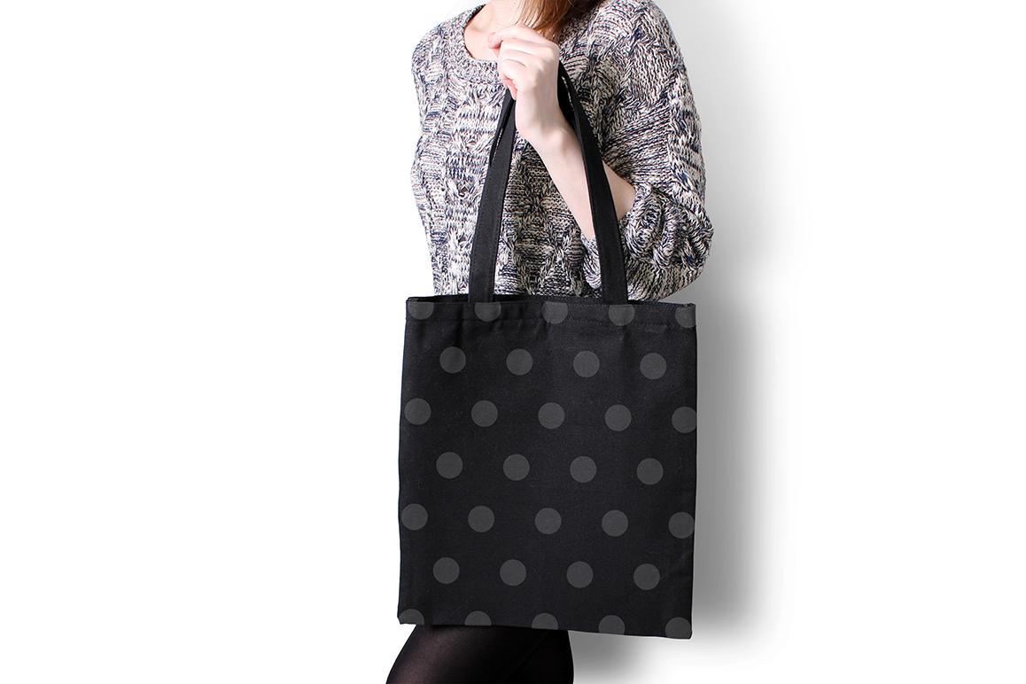 Black Tote Bag Mockup example image 2