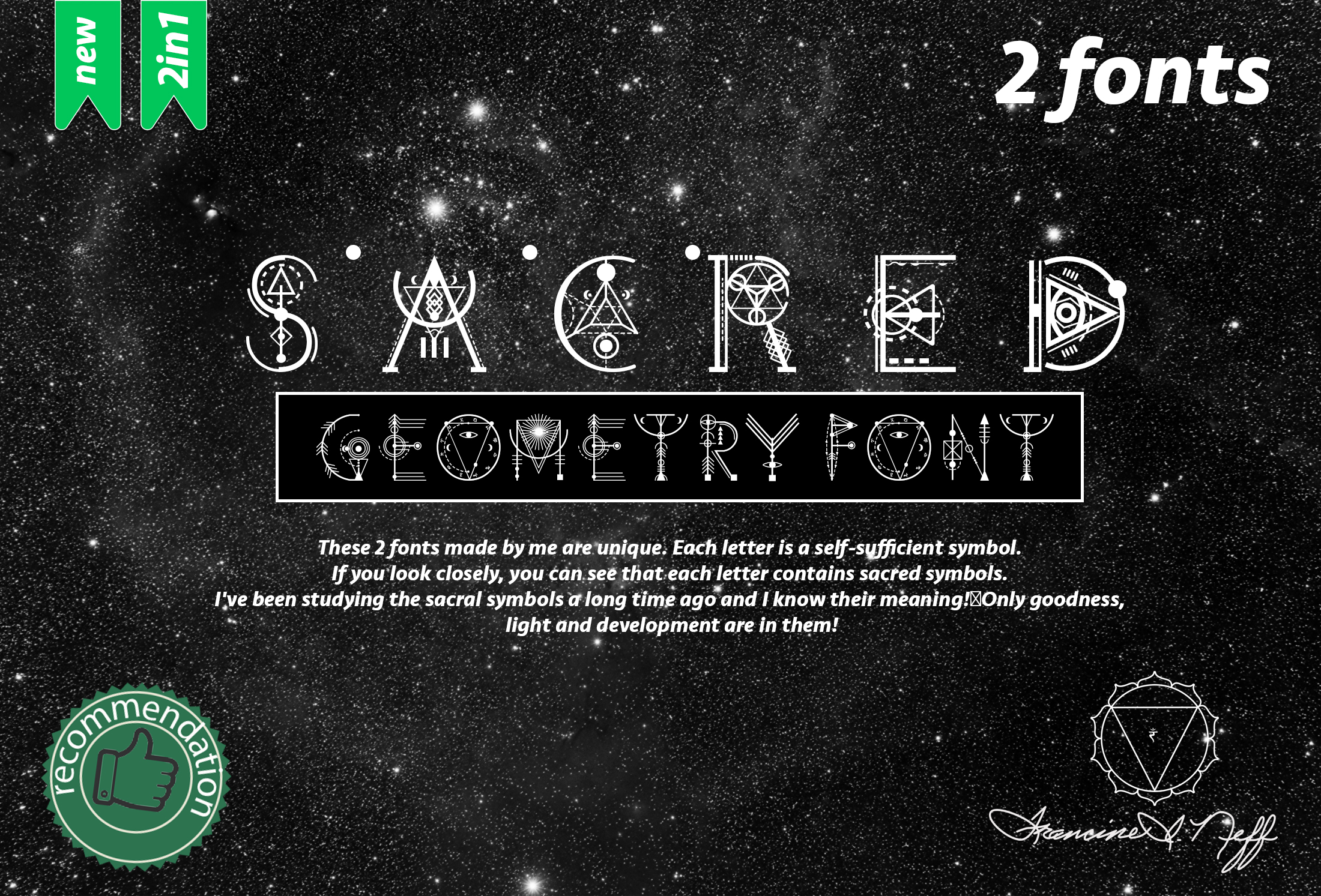 Sacred's fonts Bundle example image 1