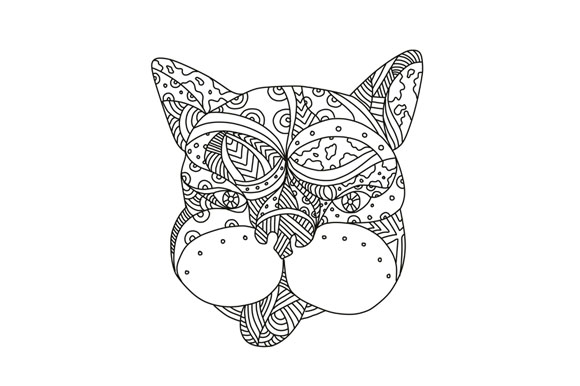 French Bulldog Doodle Art example image 1