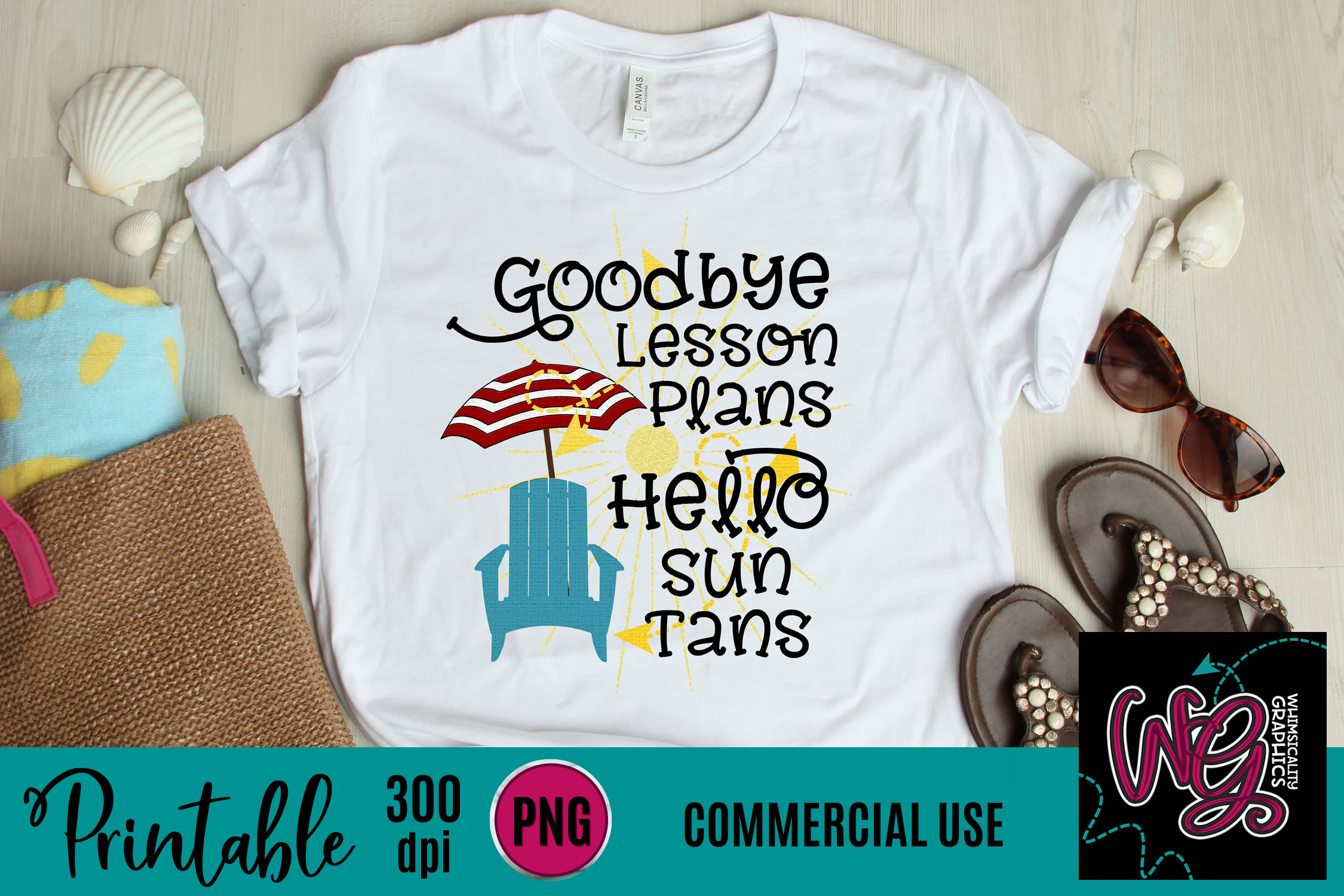 Goodbye To Lesson Plans Sublimation Printable example image 1