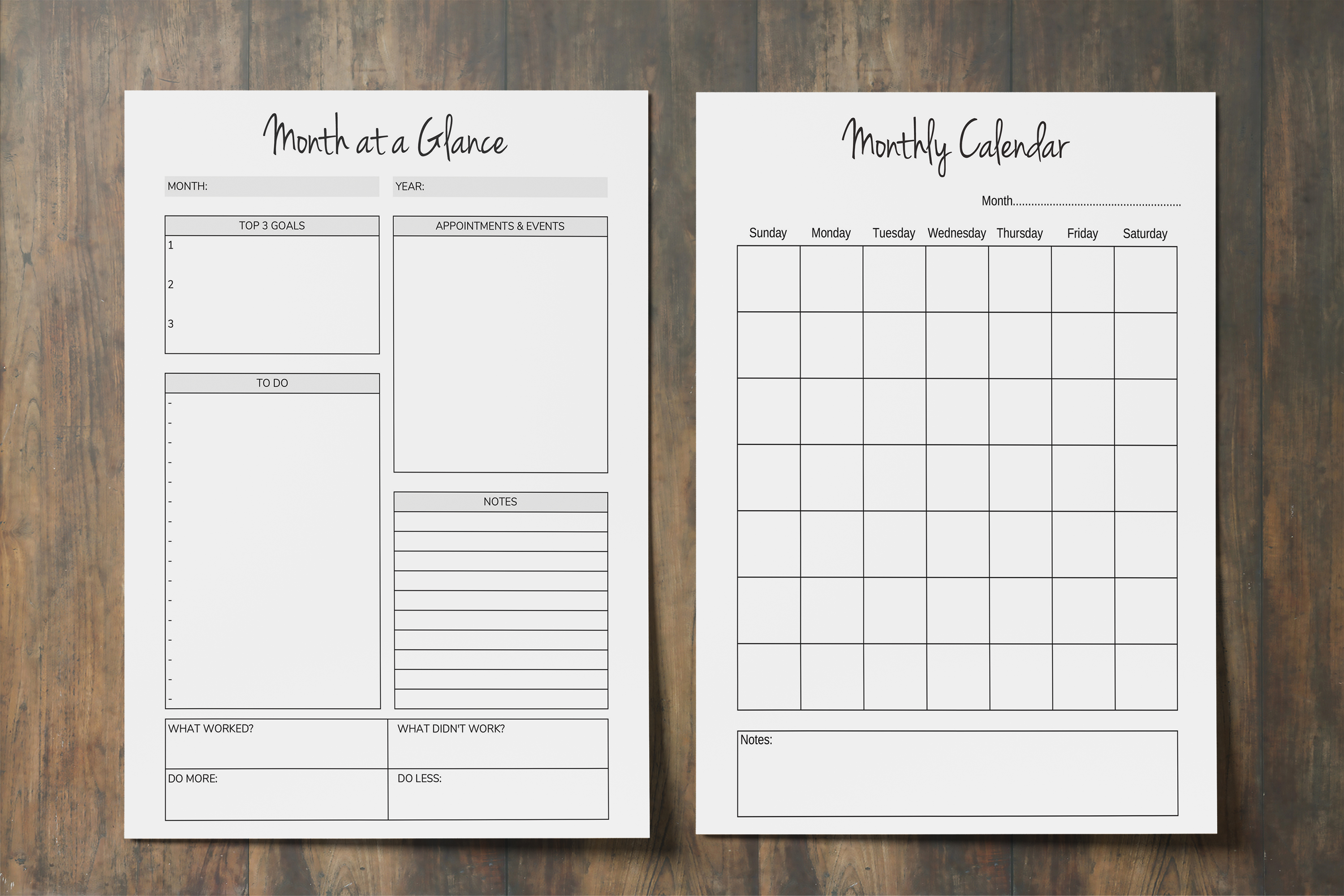 Time Management Planner, Productivity Planner Printable example image 3