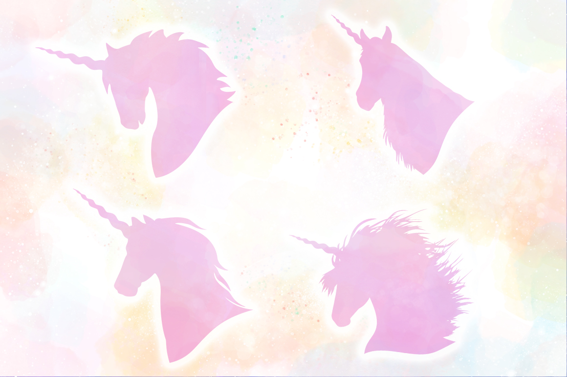 Unicorn Silhouettes SVG Cut Files Pack example image 3