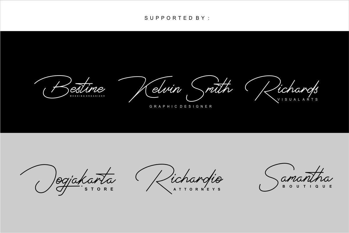 Signatrust / 2 font signature example image 7