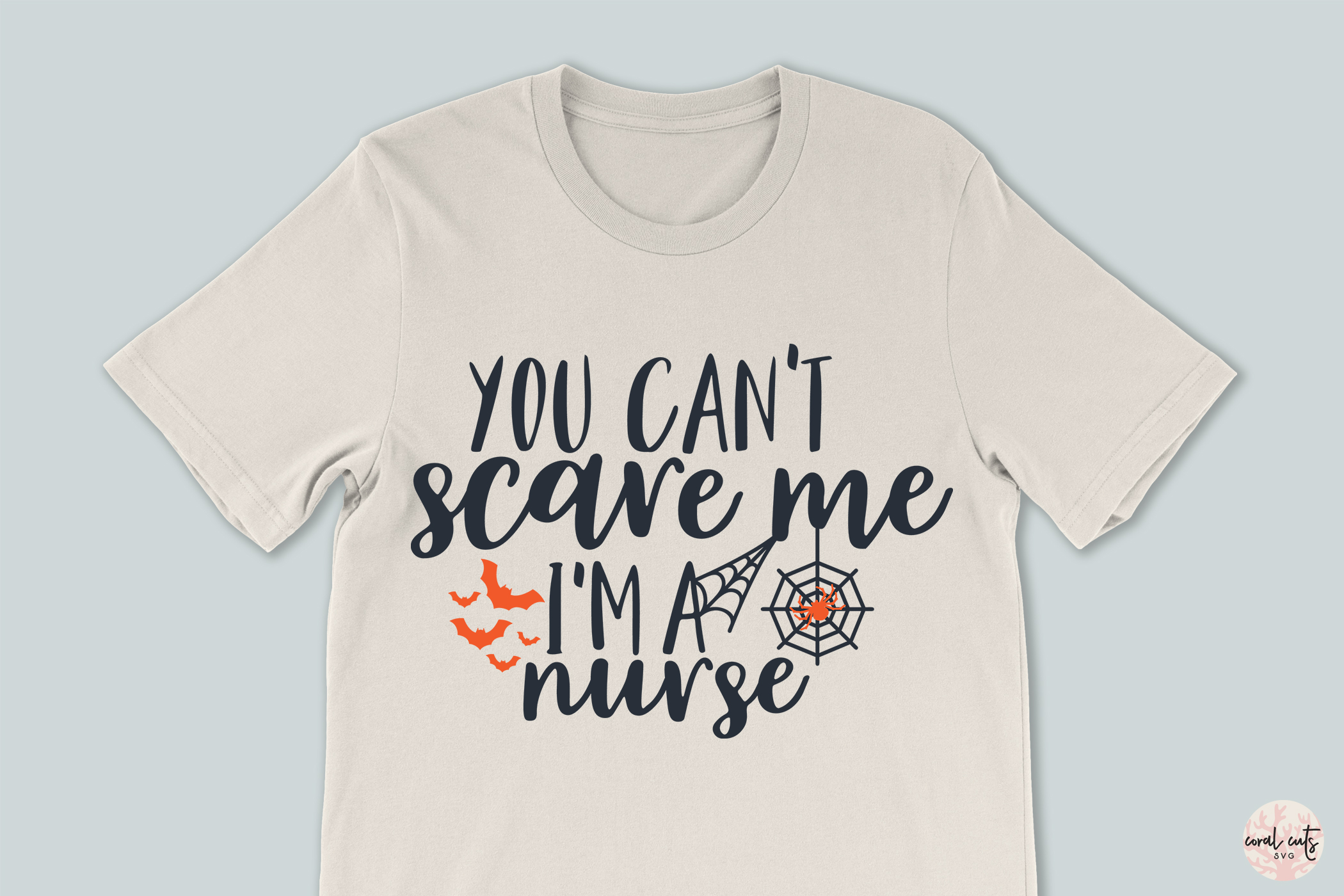 You Cant Scare Me I AM Nurse - Halloween SVG EPS DXF PNG example image 3