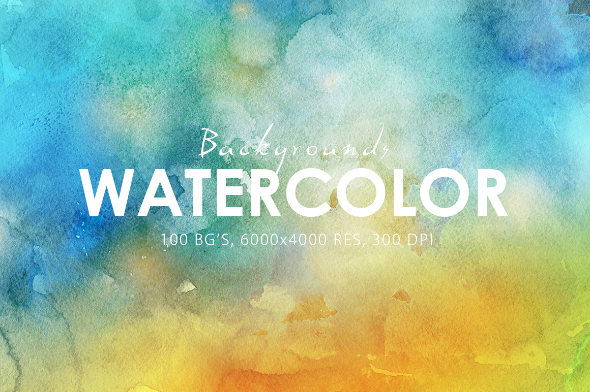 Only Watercolor Backgrounds Bundle example image 6