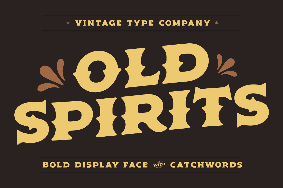 Old Spirits Display Font example image 1