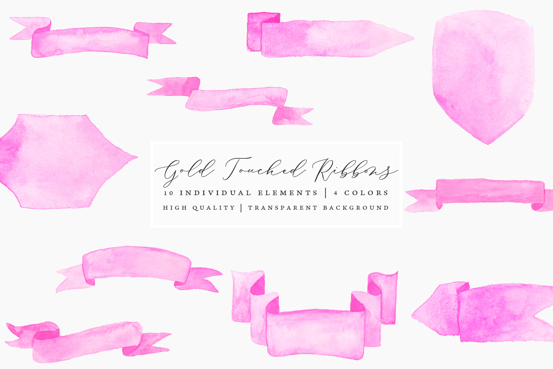Gold Touched Ribbons - Blue, Pink, Gold example image 7