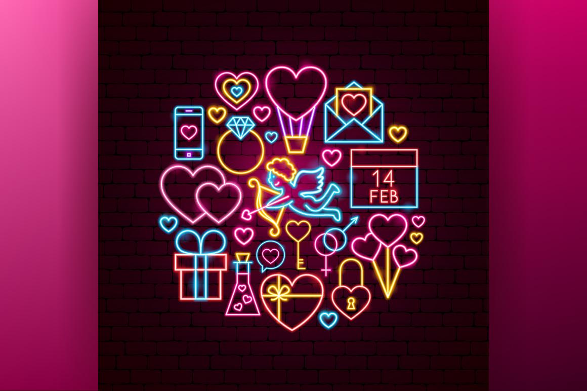 Valentine's Day Neon example image 4