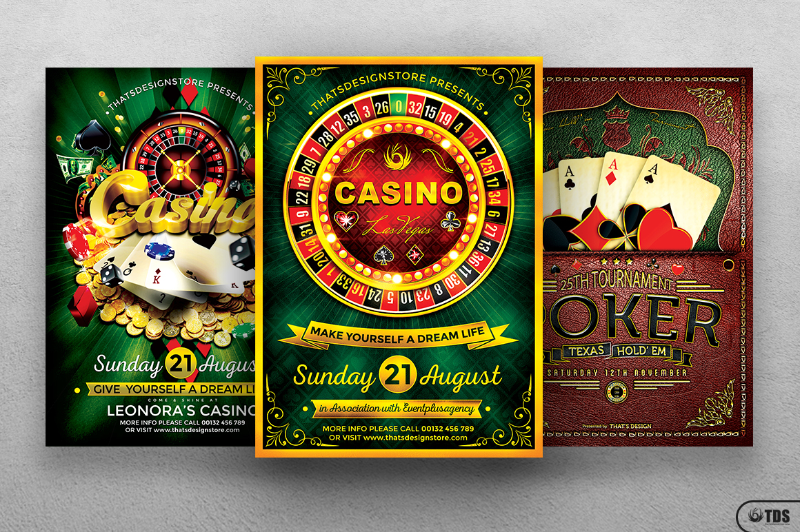 Poker and Casino Flyer Bundle example image 3