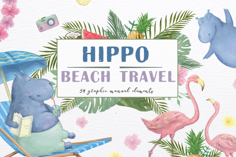 Hippo Beach Travel. Summer Set example image 1