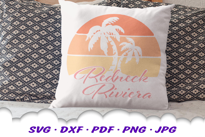 Redneck Riviera Beach Summer SVG DXF Cut Files example image 2
