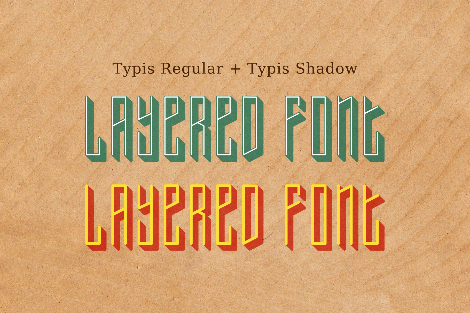 Typis Layered Font example image 4