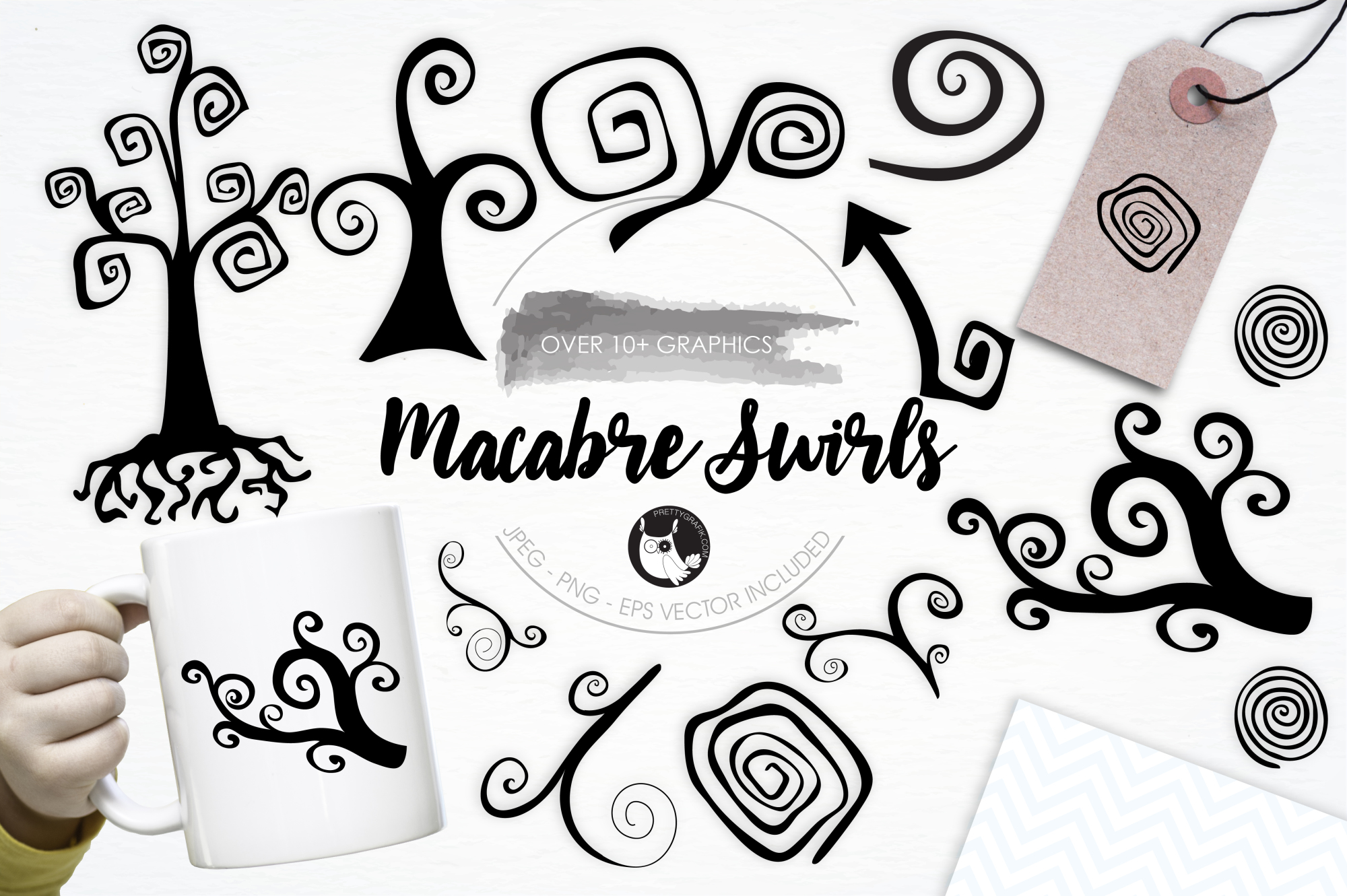 Macambre Swirls graphics and illustrations example image 1