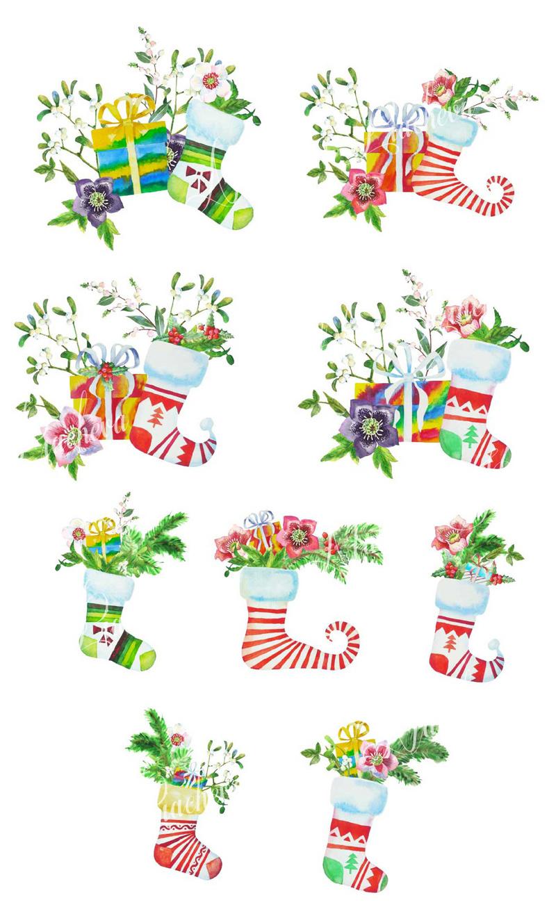 Christmas Socks and Boxes example image 2