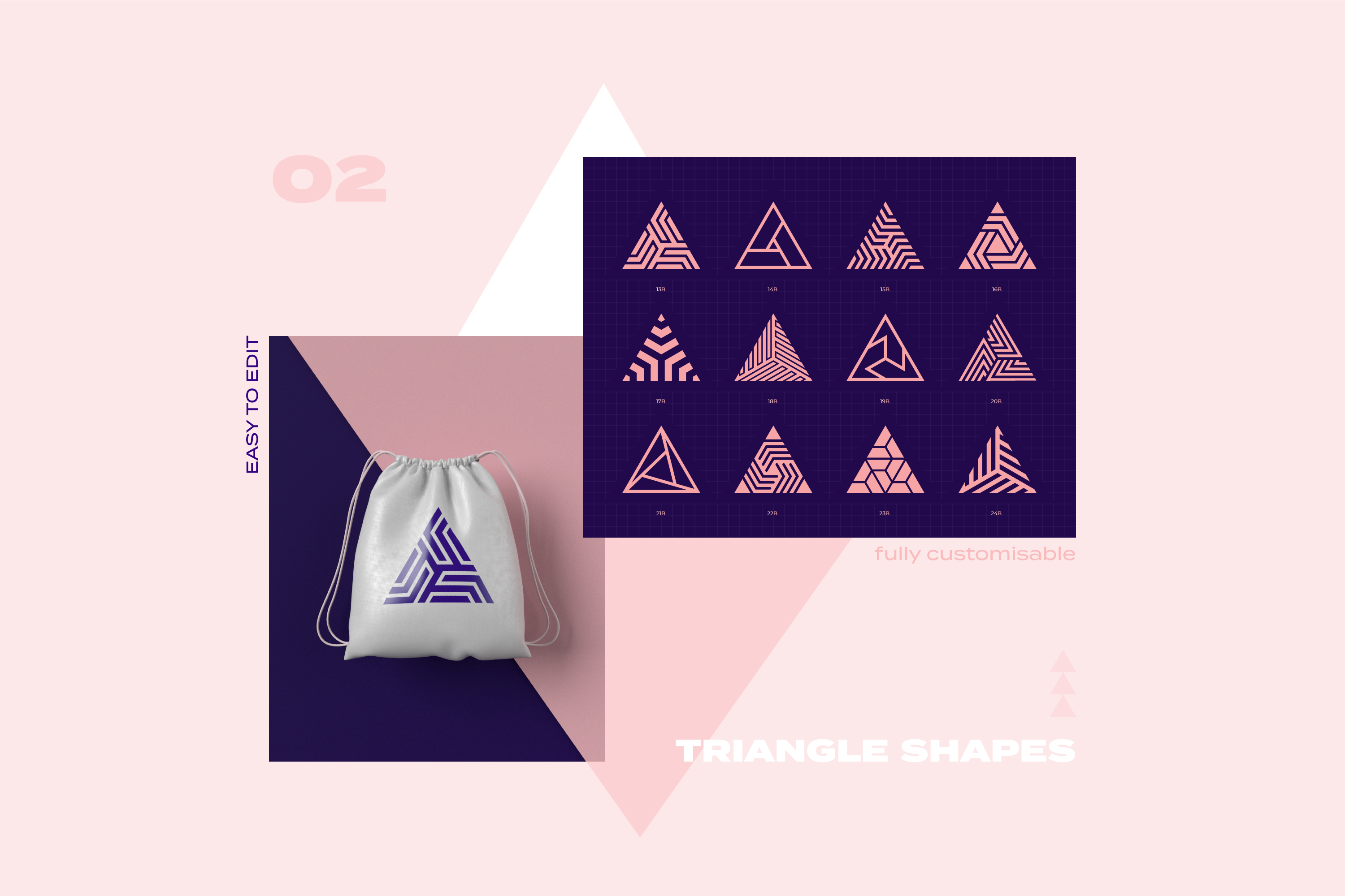96 Geometric shapes & logo marks collection VOL.1 example image 6