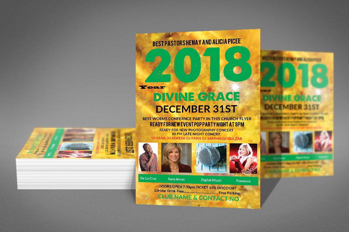 New Years Celebration Poster Template example image 3