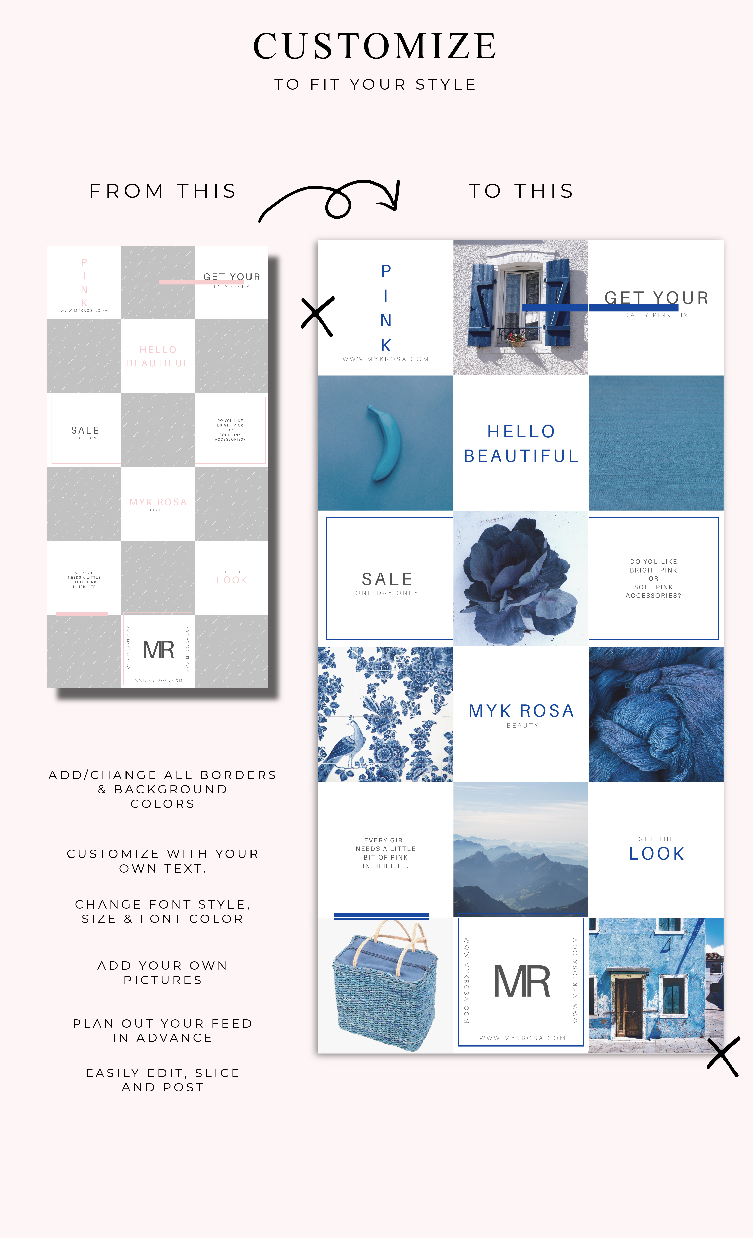 Instagram Puzzle Canva Template - Myk Rosa example image 3
