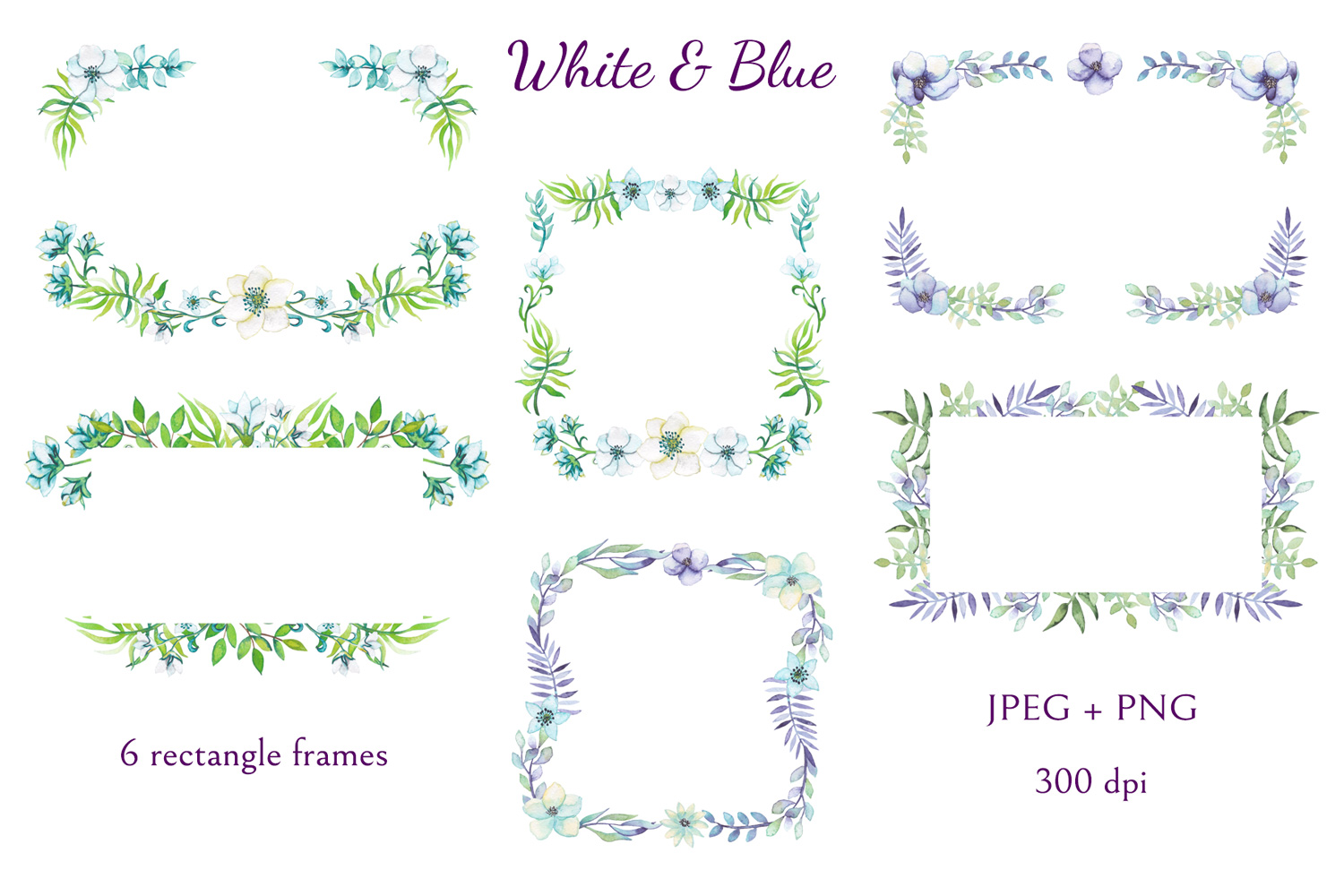 White and Blue example image 3
