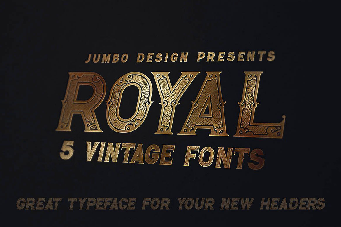 Royal - Vintage Style Font example image 2