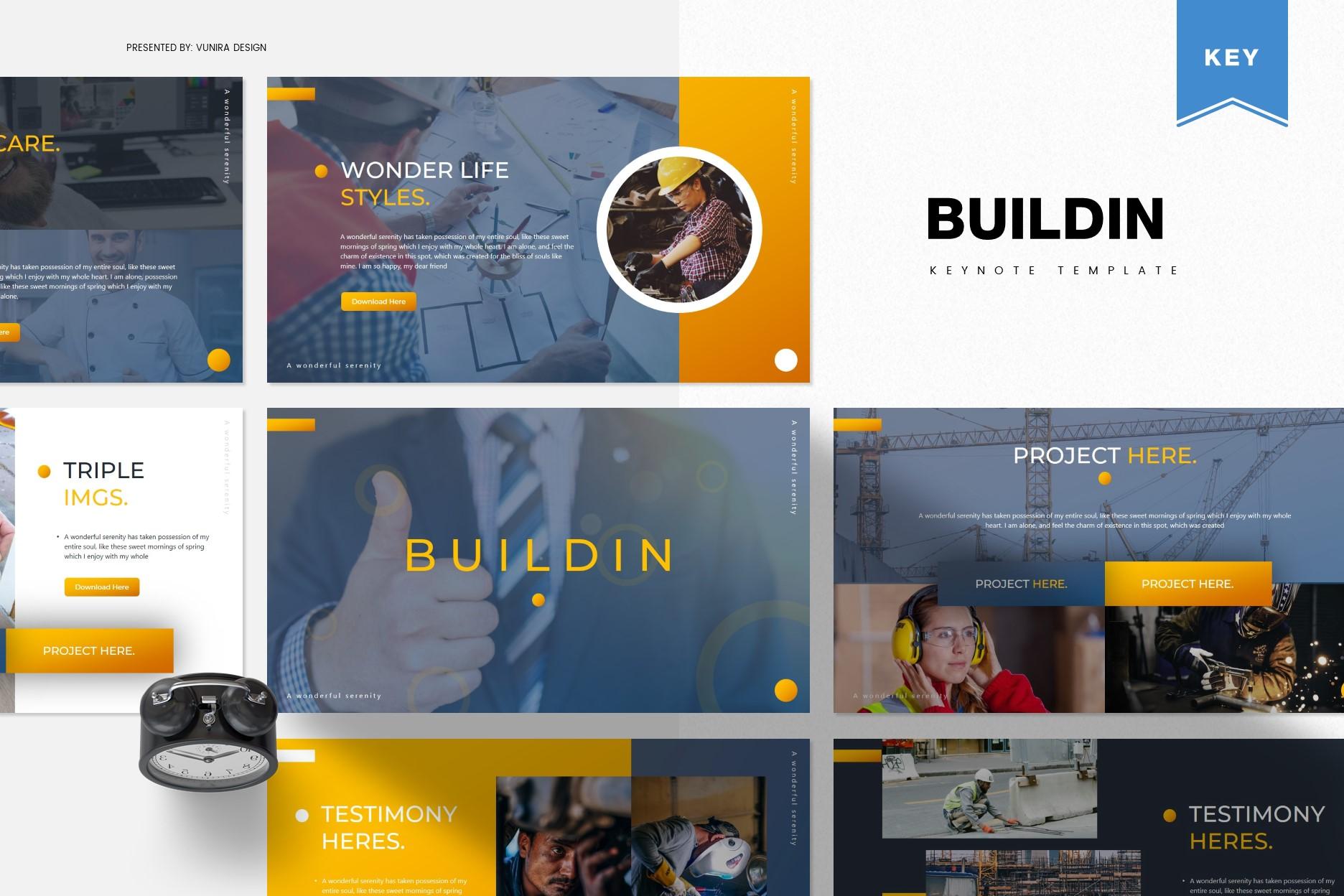 Buildin | Powerpoint, Keynote, GoogleSlides Template example image 2