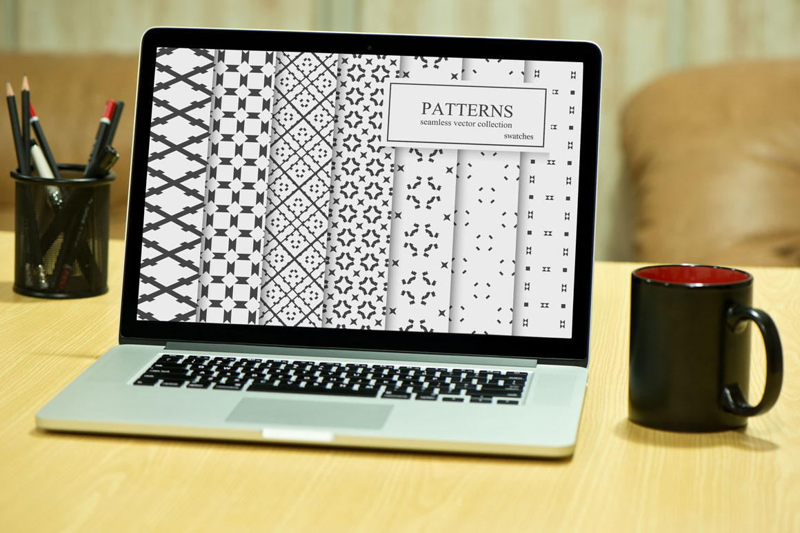 Ornamental seamless patterns. example image 4