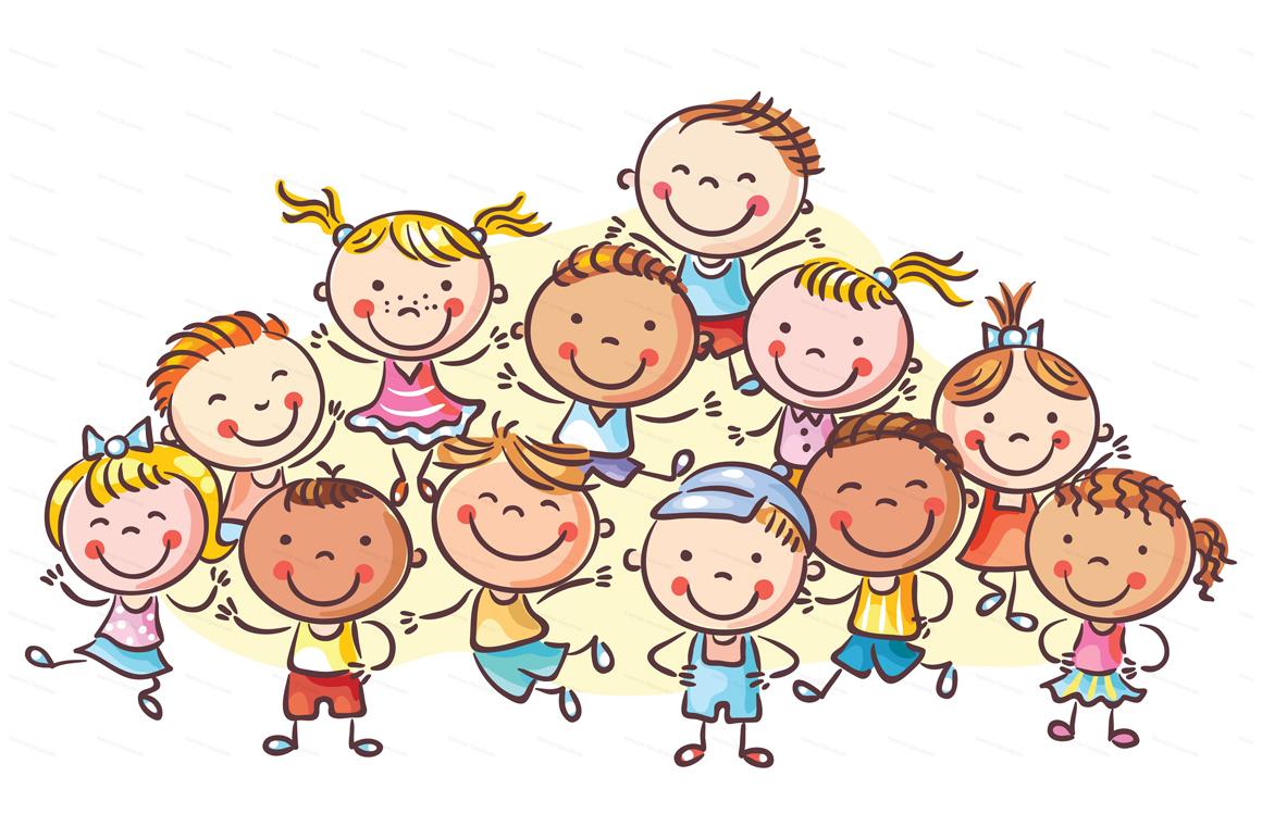 Happy Cartoon Kids Bundle, children doodle, kids doodle example image 10