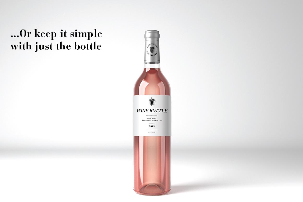 Wine Mockup Set - Photoshop PSD example image 5