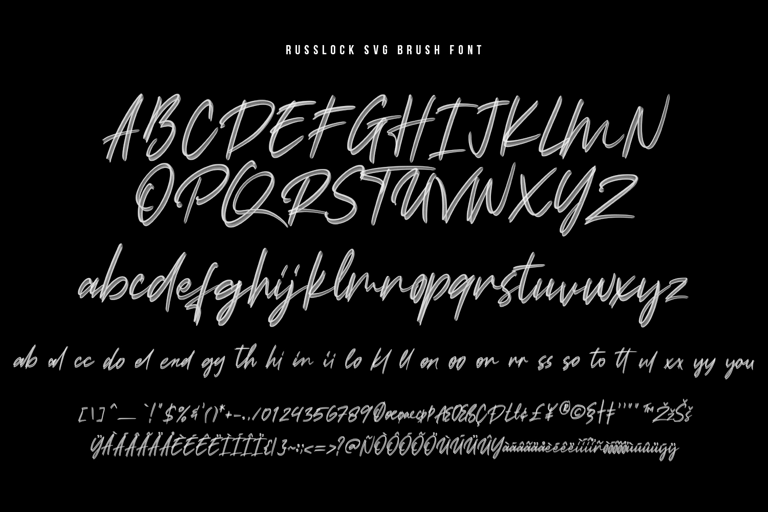 Russlock SVG Brush Font example image 14