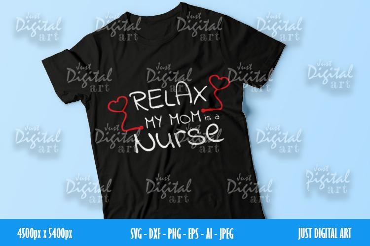 Nurse MOM SVG| PNG | EPS| Mom Gift| Digital Download example image 1