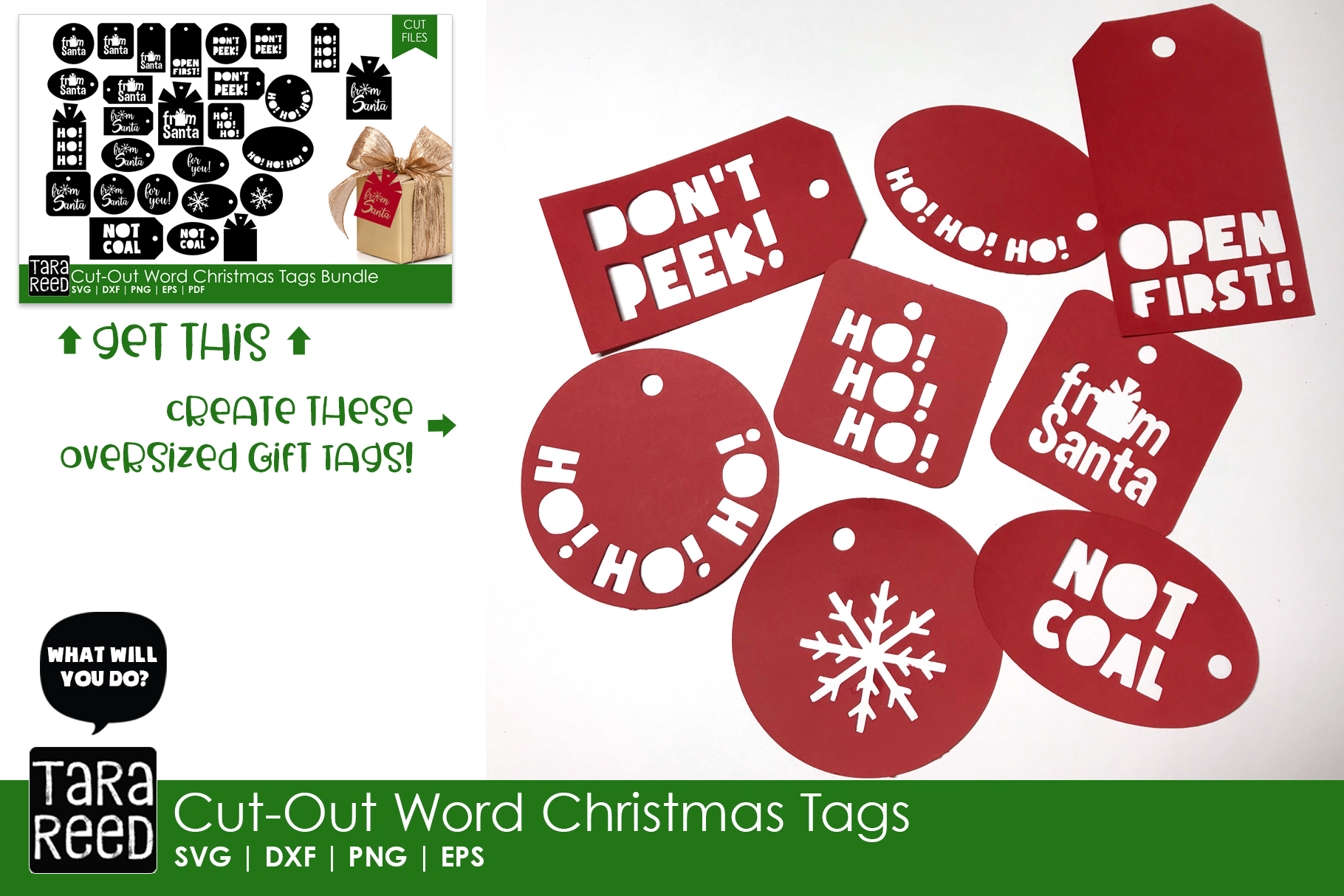 Kids Christmas MEGA Bundle - SVG and Cut Files for Crafters example image 9