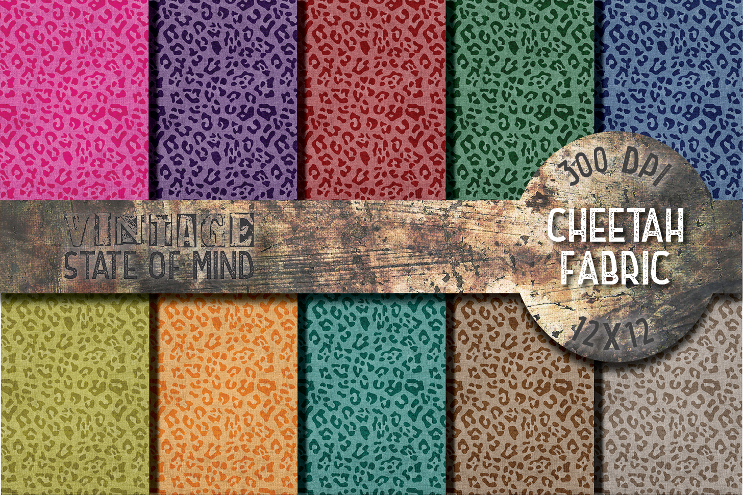 Cheetah Fabric Digital Papers example image 1