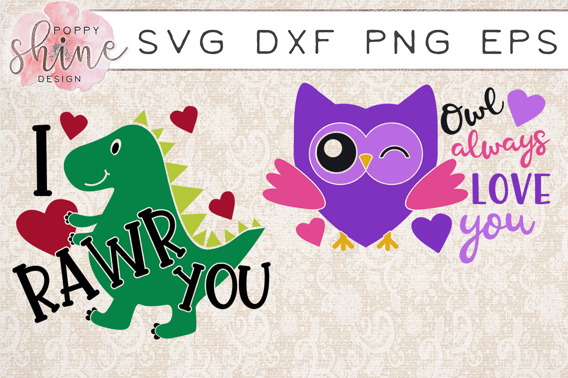 Valentine's Day Bundle of 11 SVG PNG EPS DXF Cutting Files example image 3