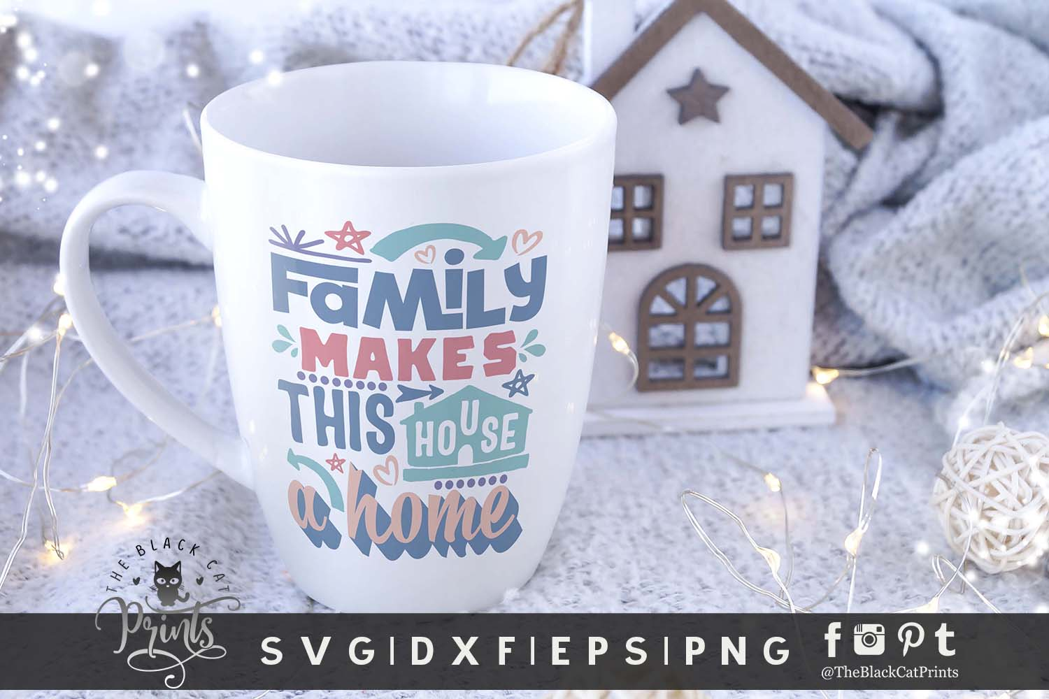 Family Makes This House a Home SVG DXF EPS PNG Family svg example image 3