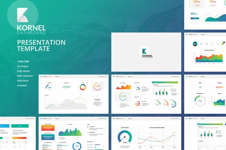 Kornel - Dashboard Google Slides Template example image 1