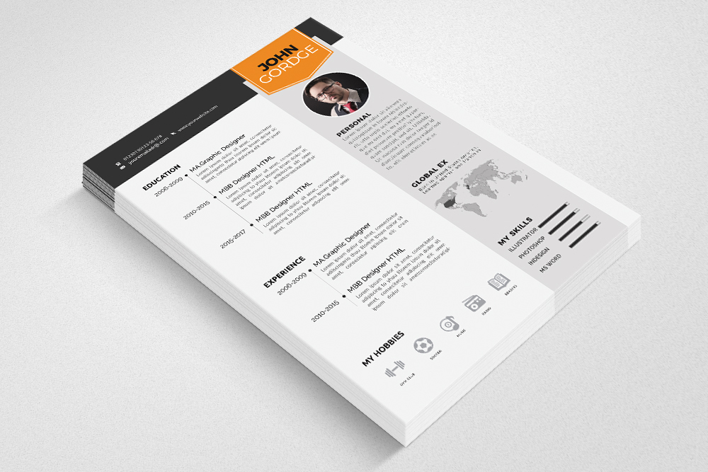 Resume Cv Word Template example image 2