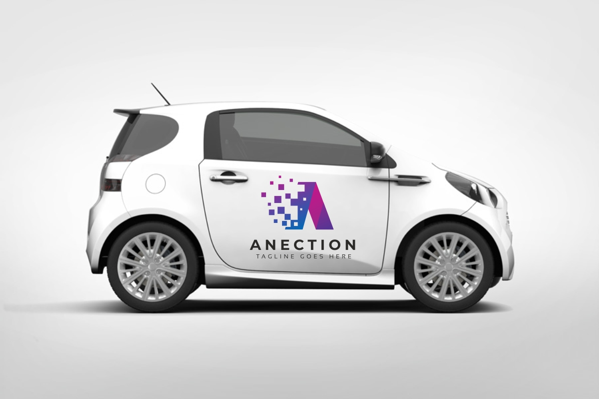 Anection A Letter Logo example image 4
