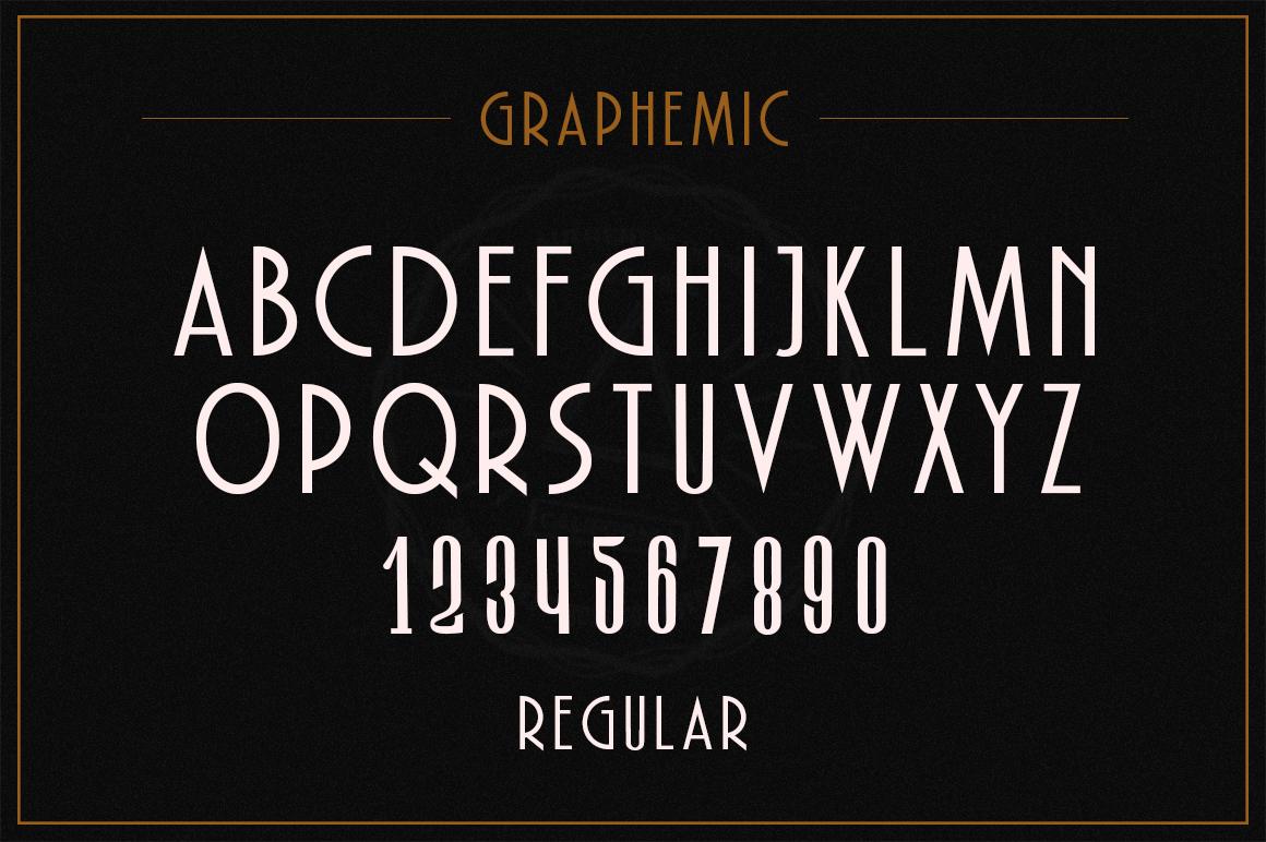 Graphemic | Deco Condensed Sans example image 10