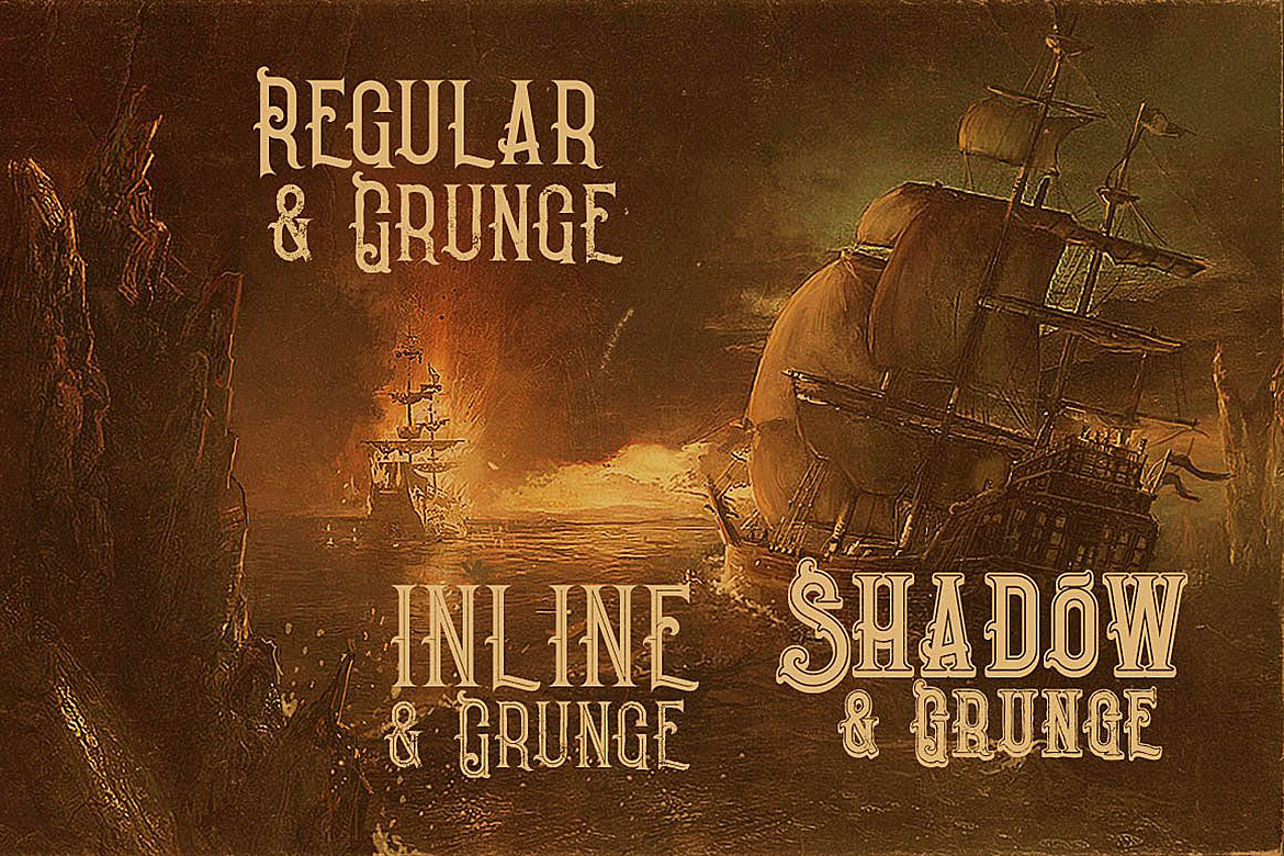Pirate- Vintage Style Font example image 2