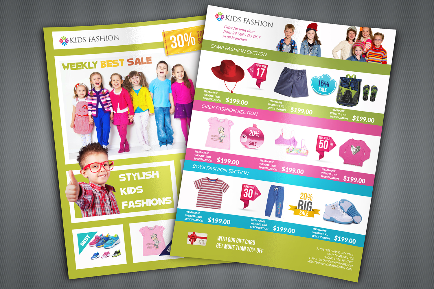 Kids Fashion Catalog Flyer Template example image 2