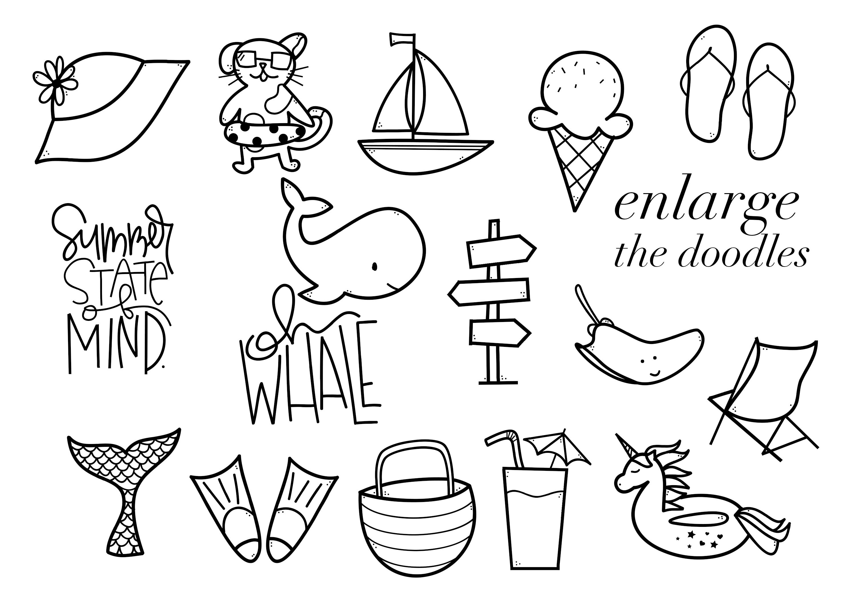 Summer Break / Summer Doodle Font  example image 4
