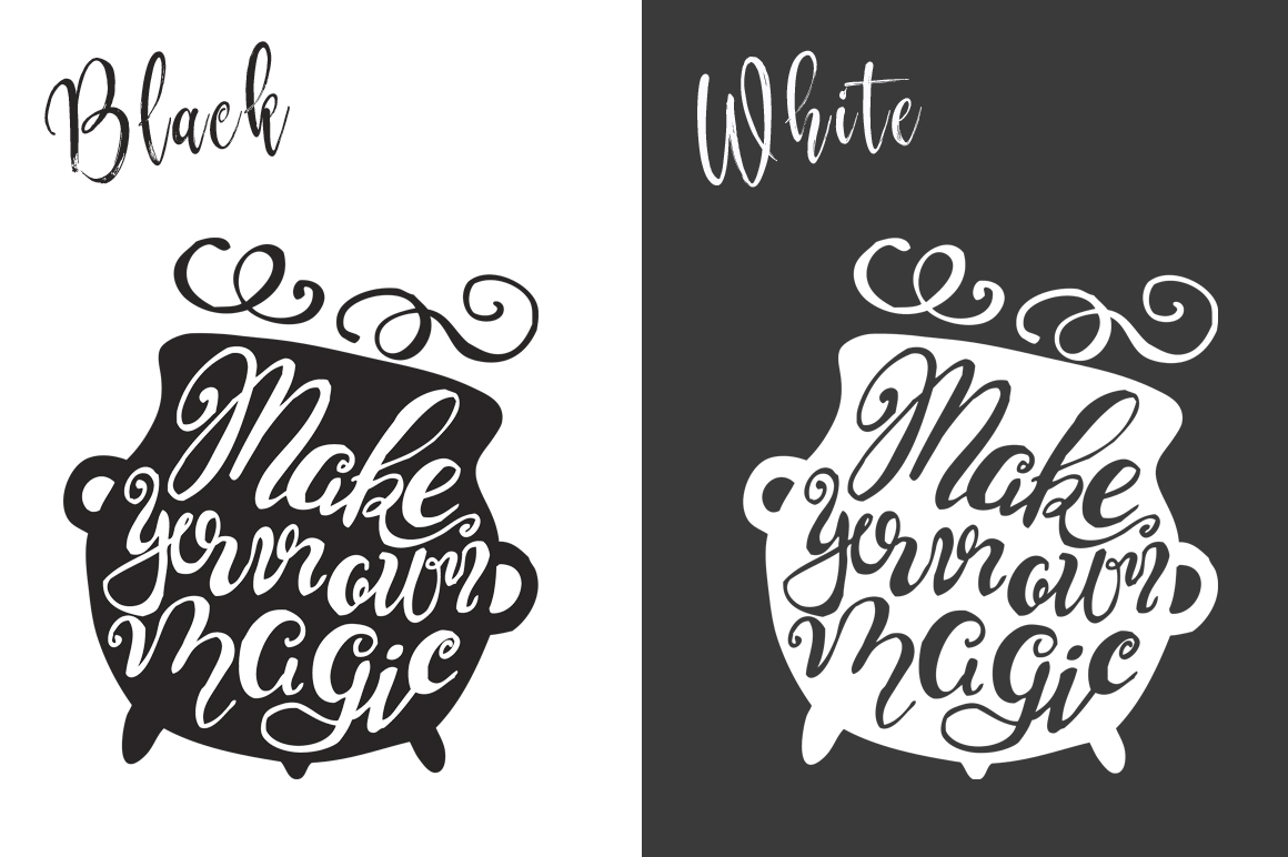 Halloween hand drawn Quotes SVG Cut files example image 5