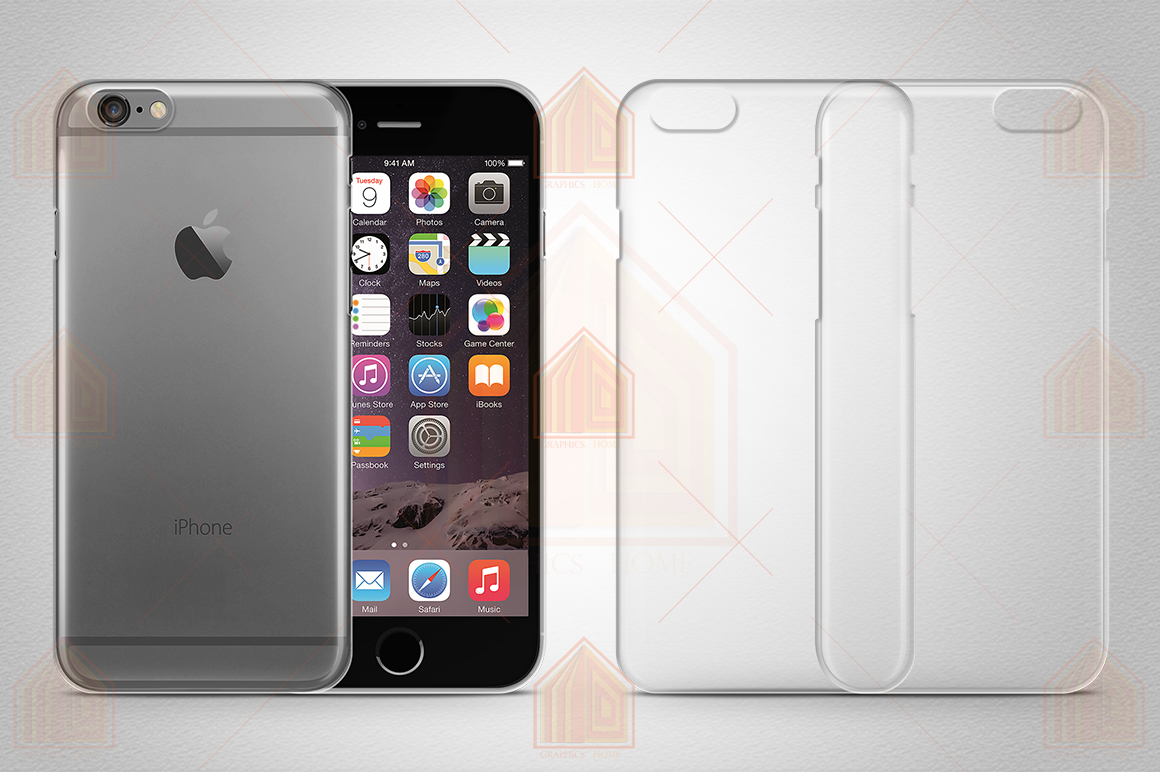 iPhone 6 TPU Case Mockup Back-Front View example image 2