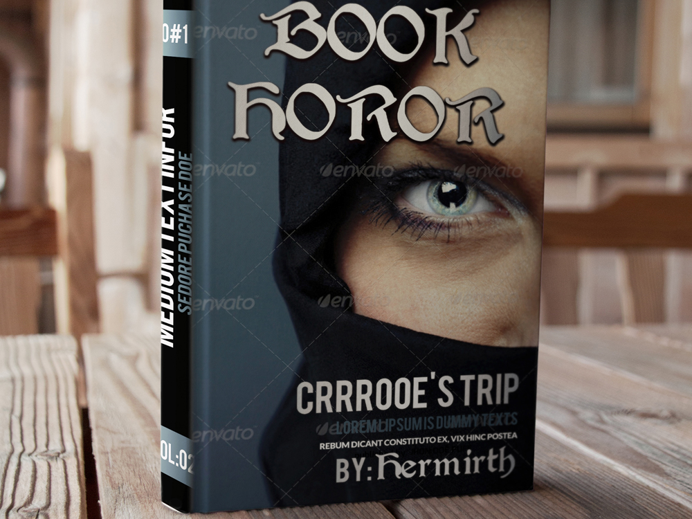 Horror Book Cover Templates example image 2