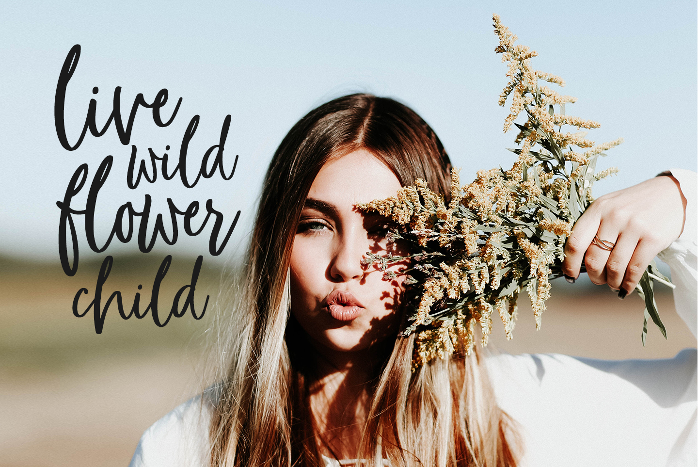 Whimsical modern brush font, Flower Child example image 6