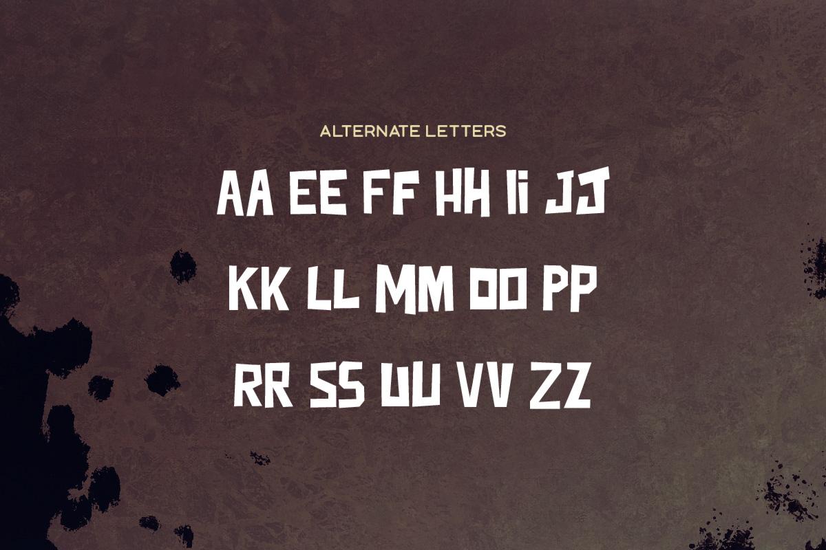 Junkdog Typeface example image 5