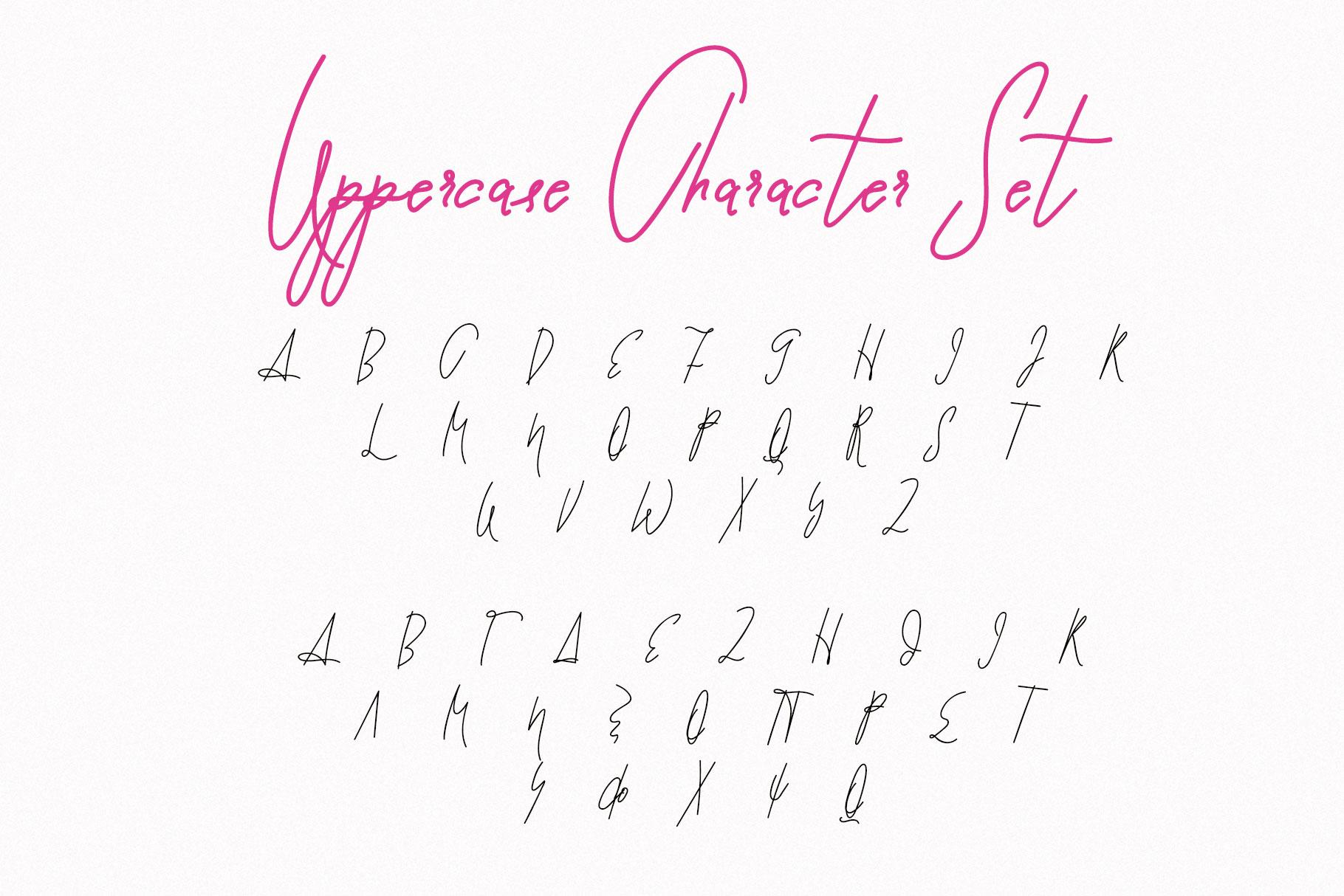 Script Font Pomme Noire example image 7