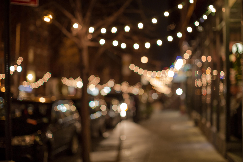 Blurred Street in christmas lights  Blurred Street ...