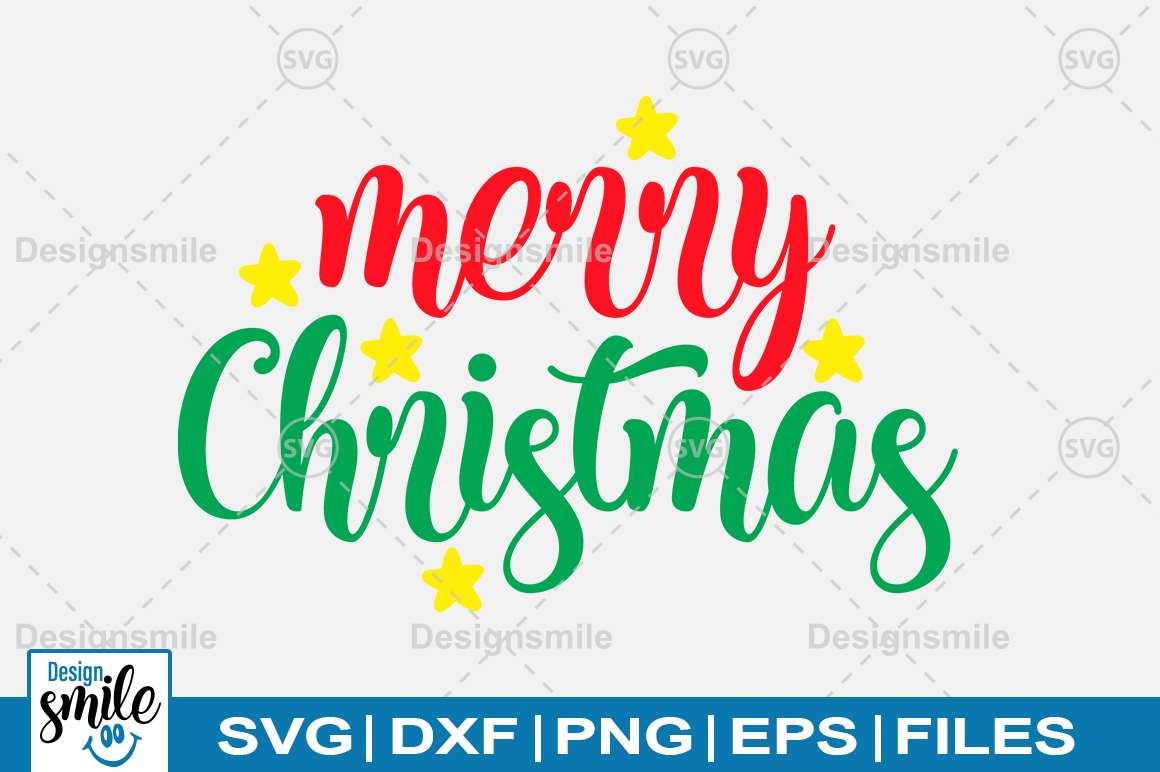 Merry Christmas SVG DXF PNG EPS Cutting Files example image 1